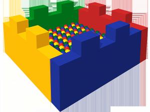 Сухой бассейн с шариками «Замок»