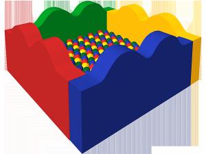 Сухой бассейн с шариками «Волна»